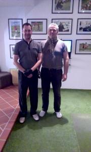 Vítěz zahajovacího turnaje Golf59 Ladislav Lána s Jiřím Votroubkem. (foto z roku 2015)